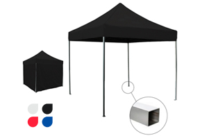 carpa plegable negra food truck